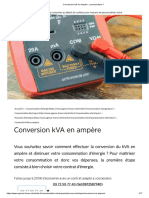 Conversion kVA en Ampère _ comment faire _
