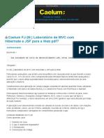 Caelum FJ-26 _ Laboratório de MVC com Hibernate e JSF para a Web pdf_ - Front-end - GUJ