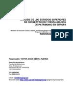 Medina, V. Análisis estudios conserv. y rest. en Europa. 2003
