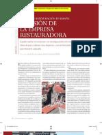 Rey, G. La visión de la empresa restauradora. 2008