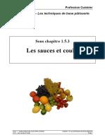 153 _Les sauces et coulis