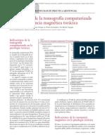 15.017 Indicaciones de la tomografía computarizada y de la resonancia magnética torácica