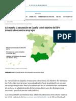 Así marcha la vacunación en España con el objetivo del 70% inmunizado en verano muy lejos _ Vacuna Covid