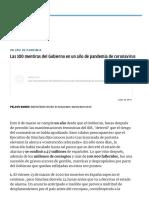 Gobierno coronavirus_ Las 100 mentiras del Gobierno de Pedro Sánchez y Pablo Iglesias en un año de pandemia de coronavirus