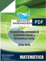 Cuadernillo MATEMATICA ECO 2019