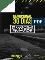 Devocial 30 dias - Transforme seu mundo