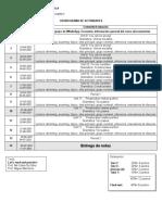 Cronograma de Actividades Ingles III 2021-1