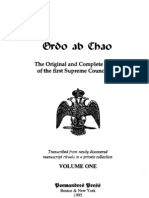 Ordo Ab Chao the Original and Complete Rituals of the First Supreme Council 33 Degree Masons