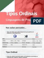 LIP18 - Tipos Ordinais