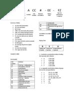 Nomenclatura de Tubería y Valvulas U400