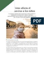Cómo afecta el coronavirus a los niños