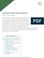 Currículum Vitae para estudiantes - Ejemplos GRATIS