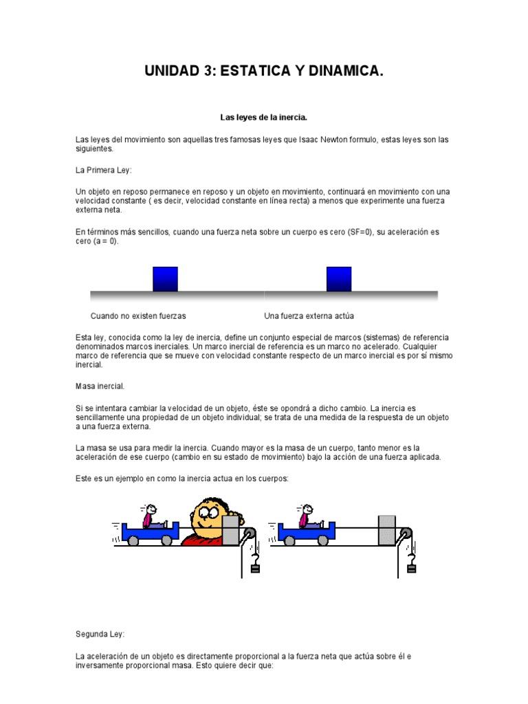 unidad 3 estatica y dinamica.