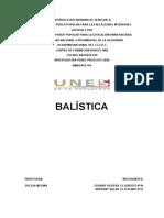 TRABAJO BALISTICA profesora Ercilia Medina