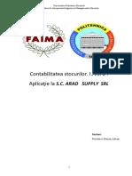 Contabilitatea Stocurilor IAS 2 Aplicatie La SC Arad Supply SRL
