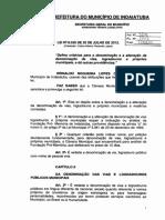 Lei Ordinária 6035 2012 Original Altera 3081