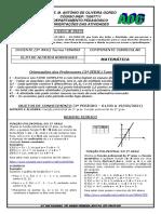 Matemática Segundo Período - 3º ANO Turma M3NR03