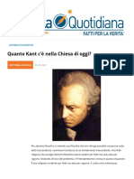Quanto Kant c'è nella Chiesa di oggi?