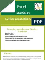 CURSO EXCEL BÁSICO  2019 - SESIÓN 05