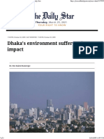 Dhaka's Environment Suffers Urban Impact the Daily Star