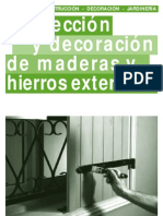 Bricolage - Protección y decoración de maderas y hierros exteriores