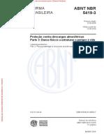 NBR 5419-3 Danos físicos as estruturas e perigo a vida