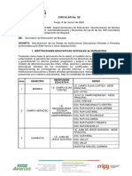 Circular - Actualización Listado de Alternantes Marzo (Comité 1 y 8-03-2021)