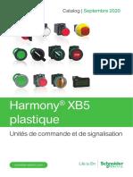 Catalogue Harmony XB5 plastique unités de commande et de signalisation Ø 22 - Français 09-2020
