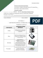 ACTIVIDAD N. 1 COMPONENTES INTERNOS Y EXTERNOS DEL PC