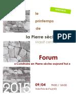 la Pierre seche - Conservatoire de la Chanterie_Synthese-Forum09-04-15