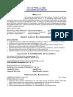 Jacob Pavlak, MBA Resume