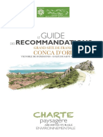 Grand site de France Conca d'Oru_Guide de recommandations