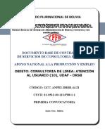 DBC - GCC-ANPE2-DRSB-44-21 ATENCION AL USUARIO