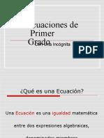 Ecuacion de Primer Grado