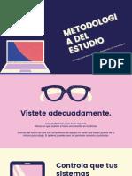 Púrpura y Rosa Moderno Trabajar desde Casa Simple Presentación