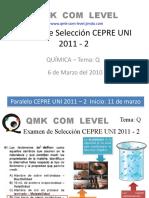 PREGUNTA 1 TEMA Q PRUEBA DE SELECCIÓN CEPRE UNI 2011-2