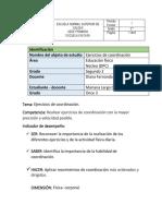 PLANEACIÓN N° 03- EJERCICIOS DE COORDINACIÓN