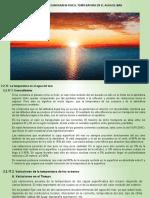 CAP. VIII OCEANOGRAFIA FISICA-TEMPERATURA DEL AGUA DE MAR.
