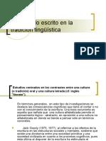 Lo oral y lo escrito en la tradicion linguistica