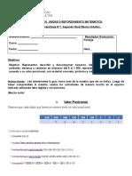 GUIA 1- MATEMATICA SEGUNDO NIVEL BASICO ADULTOS 2021