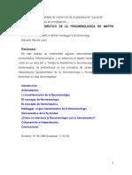 EL GIRO HERMENÉUTICO DE LA FENOMENOLÓGICA EN MARTÍN HEIDEGGER-