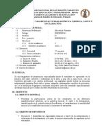 SÍLABO DEL TALLER DE  ACTIVIDAD ARTÍSTICA I (música, canto y declamación)- PRIMARIA