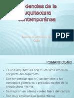 TENDENCIAS DE LA ARQUITECTURA CONTENPORANEA