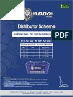 Addo Short tubular scheme- Pan India (Except HR & Del) 1-4-21 to 30-4-21