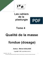 4 Qualité de La Masse Fondue