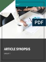 Group 7 IDM Articles
