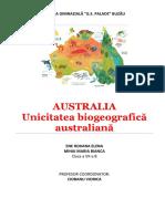 Ene Roxana + Mihai Bianca 7B - Unicitatea biogeografică australiana