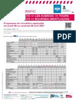 Trafic sur la ligne Paris-Vierzon-Bourges