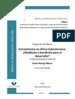Extractivismo en Guinea