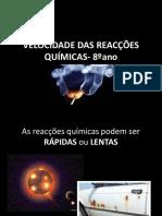 VELOCIDADE DAS REACÇÕES QUÍMICAS ppt - Cópia
